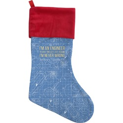 Engineer Quotes Christmas Stocking (Personalized)