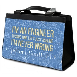 Engineer Quotes Classic Tote Purse w/ Leather Trim (Personalized)