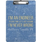 Engineer Quotes Clipboard (Personalized)