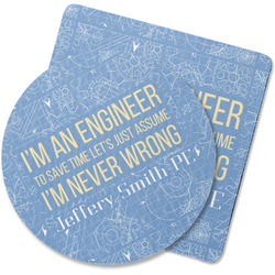 Engineer Quotes Rubber Backed Coaster (Personalized)