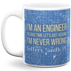 Engineer Quotes 11 Oz Coffee Mug - White (Personalized)
