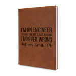 Engineer Quotes Leatherette Journal (Personalized)