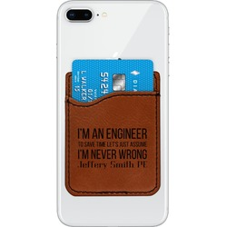 Engineer Quotes Leatherette Phone Wallet (Personalized)