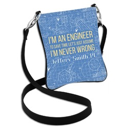 Engineer Quotes Cross Body Bag - 2 Sizes (Personalized)