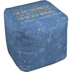 Engineer Quotes Cube Pouf Ottoman (Personalized)