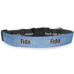 """Engineer Quotes Deluxe Dog Collar - Small (8.5"""" to 12.5"""") (Personalized)"""
