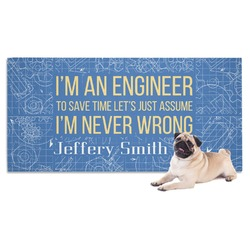 Engineer Quotes Dog Towel (Personalized)