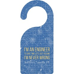 Engineer Quotes Door Hanger (Personalized)