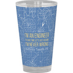 Engineer Quotes Drinking / Pint Glass (Personalized)