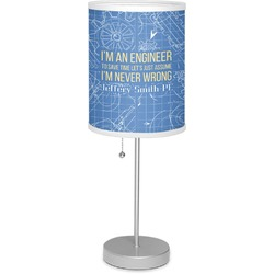 """Engineer Quotes 7"""" Drum Lamp with Shade Polyester (Personalized)"""