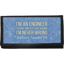 Engineer Quotes Canvas Checkbook Cover (Personalized)