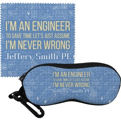 Engineer Quotes Eyeglass Case & Cloth (Personalized)