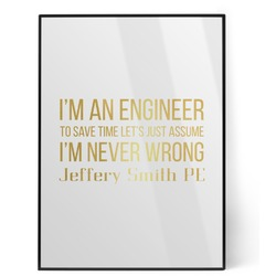 Engineer Quotes Foil Print (Personalized)