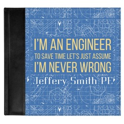 Engineer Quotes Genuine Leather Baby Memory Book (Personalized)