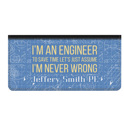 Engineer Quotes Genuine Leather Checkbook Cover (Personalized)