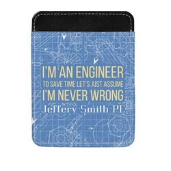 Engineer Quotes Genuine Leather Money Clip (Personalized)