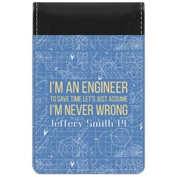 Engineer Quotes Genuine Leather Small Memo Pad (Personalized)