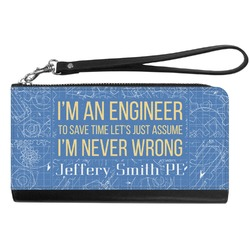 Engineer Quotes Genuine Leather Smartphone Wrist Wallet (Personalized)