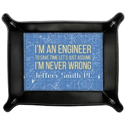 Engineer Quotes Genuine Leather Valet Tray (Personalized)