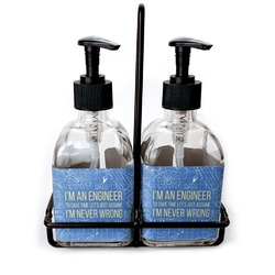Engineer Quotes Soap & Lotion Dispenser Set (Glass) (Personalized)