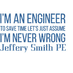 "Engineer Quotes Glitter Sticker Decal - Up to 9""X9"" (Personalized)"