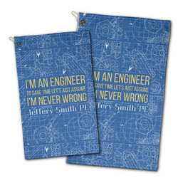 Engineer Quotes Golf Towel - Full Print w/ Name or Text