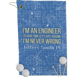 Engineer Quotes Golf Towel - Full Print (Personalized)
