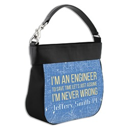 Engineer Quotes Hobo Purse w/ Genuine Leather Trim (Personalized)