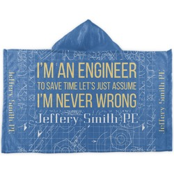 Engineer Quotes Kids Hooded Towel (Personalized)