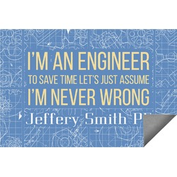 Engineer Quotes Indoor / Outdoor Rug (Personalized)