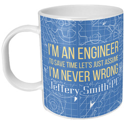 Engineer Quotes Plastic Kids Mug (Personalized)