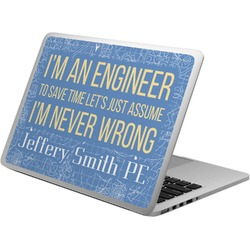 Engineer Quotes Laptop Skin - Custom Sized (Personalized)