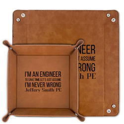 Engineer Quotes Faux Leather Valet Tray (Personalized)