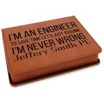 Engineer Quotes Leatherette 4-Piece Wine Tool Set (Personalized)