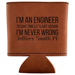 Engineer Quotes Leatherette Can Sleeve (Personalized)