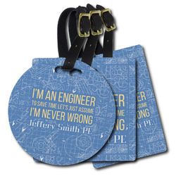 Engineer Quotes Plastic Luggage Tags (Personalized)