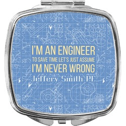 Engineer Quotes Compact Makeup Mirror (Personalized)