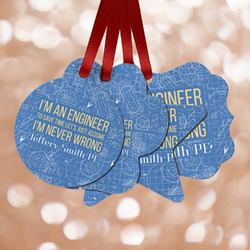 Engineer Quotes Metal Ornaments - Double Sided w/ Name or Text