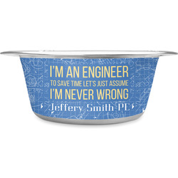 Engineer Quotes Stainless Steel Dog Bowl (Personalized)