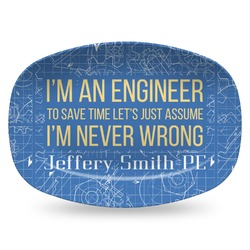 Engineer Quotes Plastic Platter - Microwave & Oven Safe Composite Polymer (Personalized)