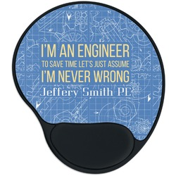 Engineer Quotes Mouse Pad with Wrist Support