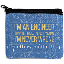 Engineer Quotes Rectangular Coin Purse (Personalized)