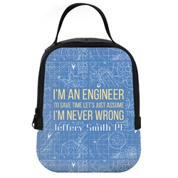 Engineer Quotes Neoprene Lunch Tote (Personalized)
