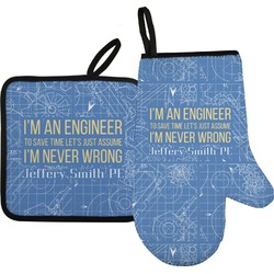 Engineer Quotes Oven Mitt & Pot Holder (Personalized)