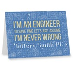 Engineer Quotes Note cards (Personalized)