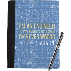 Engineer Quotes Notebook Padfolio (Personalized)