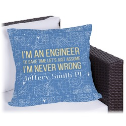 """Engineer Quotes Outdoor Pillow - 18"""" (Personalized)"""