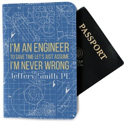 Engineer Quotes Passport Holder - Fabric (Personalized)