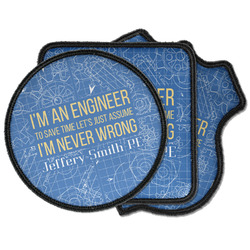 Engineer Quotes Iron on Patches (Personalized)