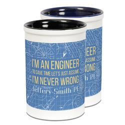 Engineer Quotes Ceramic Pencil Holder - Large